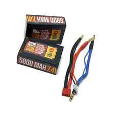 Racers Edge 5800mah 100c 2s Lipo Saddle Battery RCELP2S5800100C