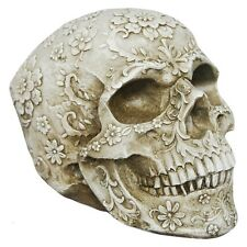 Floral Decay Skull Figurine By Nemesis Now | Free UK Delivery