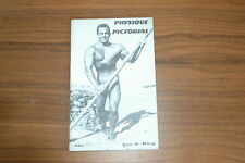 PHYSIQUE PICTORIAL VOL 8 #4 60s VINTAGE MAGAZINE BOYS ART BEEFCAKE GAY MALE NUDE
