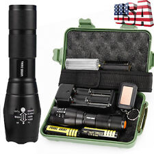 Tactical 5000LM XML T6 LED 18650 Flashlight Zoomable Torch Lamp Light Army G700
