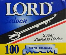 300 pcs Lord Single Edge Razor Blades Super Stainless - FAST Shipping