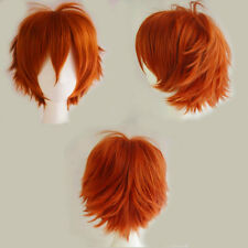 Women Men Cosplay Hair Wig Short Pixie Straight Anime Party Dress Blonde Red Wig