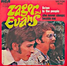 ZAGER AND EVANS listen to the people/she never sleeps beside me SP 1970 RCA VG++
