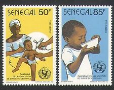 Senegal 1986 UNICEF/Children/Nurse/Immunisation/Health/Welfare 2v set (n35899)