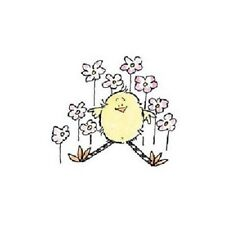 PENNY BLACK RUBBER STAMPS FLOWER CHICKY CHICKEN STAMP