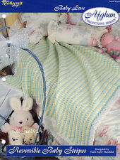 REVERSIBLE BABY STRIPES~Crochet AFGHAN PATTERN~PATTERN INSTRUCTIONS ONLY~TNS