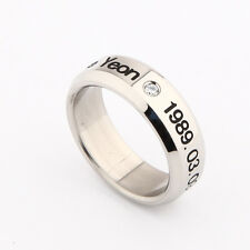 SNSD girls Generation TAEYEON TAE YEON STAINLESS STEEL RING NEW