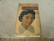 old standup card board black americana advertising store display miss clairol