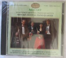 MOZART PIANO QUARTETS CD - MENUHIN FESTIVAL PIANO QUARTET CD  - BRAND NEW