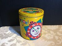 "Vintage Chex Party Mix ""SNACK TIME"" Clock Collectible Metal Advertising Tin"