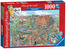 NEW! Ravensburger Cities of the World Amsterdam 1000 piece comic jigsaw puzzle