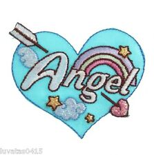 Angel Heart Quality Embroidered Motif Patch Applique Sew on/Iron on