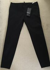 Dsquared2 Beautiful Womens Black Ankle Tailored Trousers Size 42