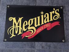Meguiar's banner sign shop garage wax wash detailing car cleaner paint metal