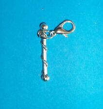 Metal Clip On Charms Living Locket Purse Backpack Dangles Cheerleader Baton