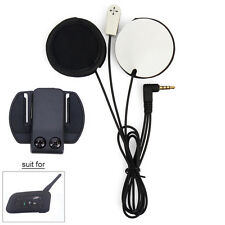 Auricolari Cuffie Casco Microfono per Interfono Moto Bluetooth Intercom V6 1200M