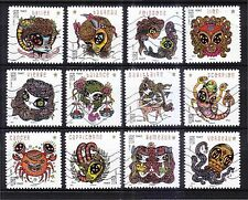 FRANCE 2014 ASTROLOGICAL MAGIC HOROSCOPE COMP. SET OF 12 STAMPS IN FINE USED