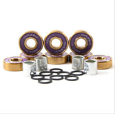 8X Dark Wolf Skateboard Bearings Titanium ABEC-11 Purple Gold + 4pcs Spacer New