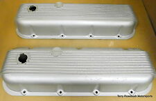 Cal Custom 40-2100 BB Chevy Tall Valve Covers, Finned, Rat-Rod Special,
