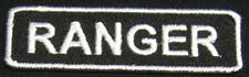 RANGER Iron-on  Patch/Badge for US ARMY Airborne T-Shirt Hat Cap BDU ACU 25P