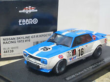 Nissan Skyline GT-R KPGC10 #16 Fuji Speedway Racing 1972 1/43 EBBRO Japan 44139