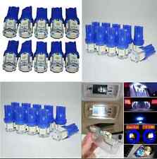 10 x T10 W5W 2825 192 194 168 501 Ultra Blue 5SMD LED Side Wedge Light Bulb 12V