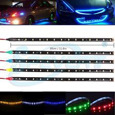 6x 30cm 3528SMD 15LED Bande Eclairage Ruban Flexible Auto Etanche Voiture 5color