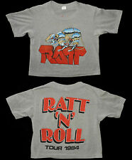 RARE Vtg 80s 1984 RATT N ROLL Tour Concert Thin 50/50 T-shirt S Heather Gray USA