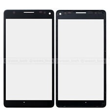 Black Microsoft Lumia 950 XL Outer Screen Glass Lens Panel+Frame Replacement