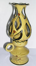 Portugal Studio Hand Made - Ceramic Candle / Lamp - Decorative Tall Table Lamp.