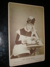 Old cabinet photograph actress Mrs Arthur Beare as maid by Fry at Brighton 1880s