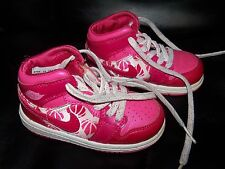 NIKE AIR JORDAN 1 PINK VALENTINES DAY SHOES 322675-661 SIZE 6C Girl's EUC