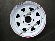 "New 14"" Sunraysia Rim HOLDEN HQ Wheel Pattern White Truck Caravan Boat Trailer"