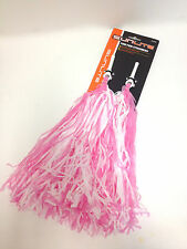 BICYCLE BIKE STREAMERS POM POMS PINK & WHITE Free Ship!