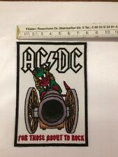 AC/DC Patch For those About To Rock Aufnäher Gestickt   Ungebraucht
