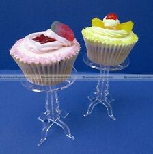 Set of 5 x Single Tier Cupcake Stands Acrylic Wedding Party Candy Display S3