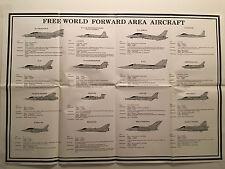K) 1979 Cold War US Free World Forward Military Aircraft 3 Posters GTA-44-2-8