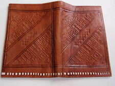 Vintage Hand Crafted Stamped Leather Bifold Wallet Egypt Mosque Palm Trees 1980