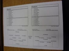 14/11/2012 Teamsheet: Sweden v England  . Thanks for viewing our item, if this i