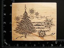 Christmas Music By Penny Black 4266L Tree Snowflake Collage Rubber Stamp #53A