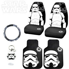 STAR WARS STORMTROOPER 6PC CAR SEAT COVERS MATS AND ACCESORIES SET FOR NISSAN