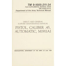 "U.S. Army Technical Manual ""PISTOL CALIBER .45 AUTO M1911A1"" TM 9-1005-211-34"