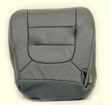 2002 2003 Ford F150 Lariat FX4 Driver Bottom Replacement Leather Seat Cover Gray