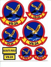 VS-24 SCOUTS US NAVY LOCKHEED S-3 VIKING S-2 TRACKER SQUADRON DECALS PATCH IMAGE