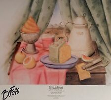 "BOTERO IN CHICAGO POSTER 1994 25"" X 28"" STILL LIFE WITH ICE CREAM ROLLED NEW"