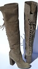 New Vince Camuto Tolla Lace Up Over The Knee Suede Boot Size 9