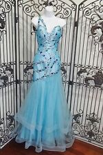 G1306 PARTYTIME PARTY TIME 6561 AQUA SZ 4 $299 PROM FORMAL GOWN DRESS