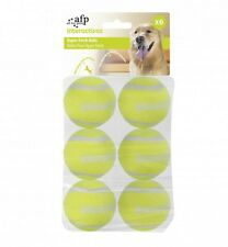 Tutto per zampe AFP Dog Puppy HYPER Fetch Super Bounce RICARICA Palline da Tennis 6pcs