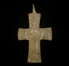 BYZANTINE Ancient Artifact - SILVER CROSS  Circa 1100-1300  AD    -3444