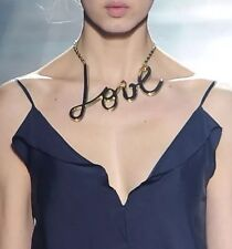 LANVIN LOVE LETTERS NECKLACE COLLAR CHOKER PENDANT